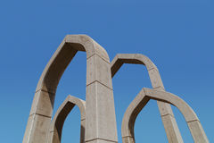 Arches in Ajman roundabout, United Arab Emirates Royalty Free Stock Photo
