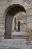 Arches at the Alcazaba Royalty Free Stock Photos