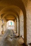 Arches at Algajola in Corsica Stock Photography