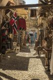 Arches and alley Old Town Rhodes. Stock Image