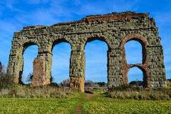 Arches of ancient acqueduct Royalty Free Stock Photography