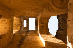 Arches in the ancient amphitheater Stock Image