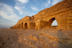 The arches of ancient Roman aqueduct Royalty Free Stock Photography