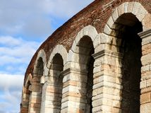 Arches of the ancient Roman landmark building Stock Photography