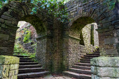 The Arches. Arches answer steps in Rivington Terraced Gardens, Lancashire UK Royalty Free Stock Photo