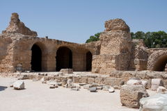 Arches at the Antonine Baths -Carthage Stock Photos