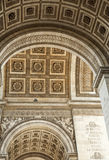 The Arches of the Arc de Triomphe. Close-up of an arch on Paris's Arc de Triomphe Stock Photography