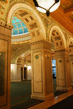 Arches. The Arched entranceway of the Chicago Cultural Center brings visitors to a Tiffany made glass atrium Royalty Free Stock Image