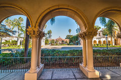 Arches in Balboa park. California royalty free stock photo