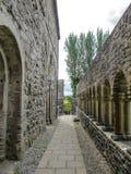 Arches at Ballintubber Abbey, 12th century Church, Mayo, Ireland stock photo