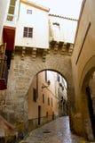 Arches of Barrio Calatrava Los Patios. In Majorca at Palma de Mallorca Balearic Islands Royalty Free Stock Images