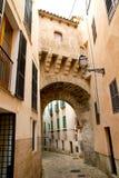 Arches of Barrio Calatrava in Majorca. Arches of Barrio Calatrava Los Patios in Majorca at Palma de Mallorca Balearic Islands Royalty Free Stock Photography