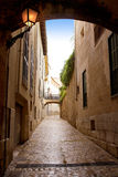 Arches of Barrio Calatrava  in Majorca Stock Photos