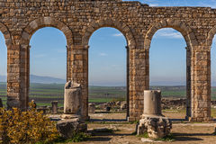 Arches of the Basilica, Volubilis Royalty Free Stock Photography