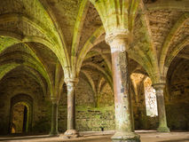 Arches at Battle Abbey at Hastings. Insinde one of the halls of the abbey as built on the site right after the Battle of Hasting in 1066 during the Norman Stock Photography