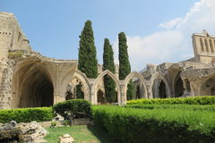 ARCHES AT BELLAPAIS. The famous arches of Bellapais monastery in Cyprus Royalty Free Stock Images