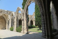 ARCHES AT BELLAPAIS. The famous arches of Bellapais monastery in Cyprus Stock Images