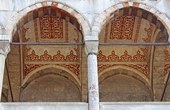 Arches of Blue mosque, Istanbul, Turkey Stock Photography
