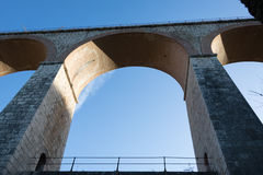 The arches of the bridge Royalty Free Stock Photo