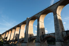 The arches of the bridge. Ancient bridge masonry railroad abandoned Royalty Free Stock Photography
