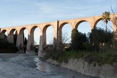 The arches of the bridge. Ancient bridge masonry railroad abandoned Stock Photos
