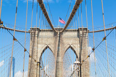 Arches of Brooklyn Bridge in NYC Stock Image