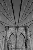 Arches of Brooklyn Bridge in NYC Stock Photos