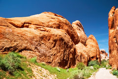 In Arches canyon Royalty Free Stock Photo