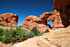 In Arches canyon Stock Image