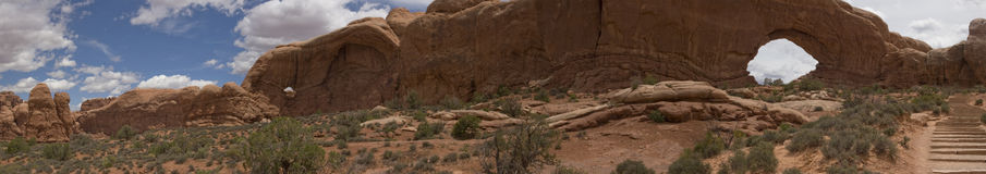 Arches and Canyonlands NP, UT Panorama. Nice Arches National Park Panorama, Moab, Utah Royalty Free Stock Photo