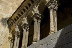 Arches with capitals in stone, City of Segovia, famous for its R Stock Photo