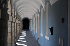 Arches and carved columns Stock Image