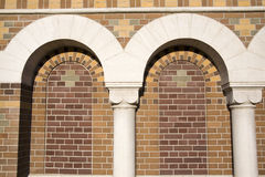 The arches of the castle. The wall of the complex of the Michailovsky castle, Saint-Petersburg Royalty Free Stock Photos