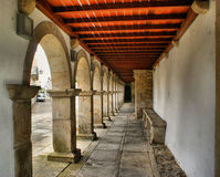 Arches and ceiling in Caminha Royalty Free Stock Photo