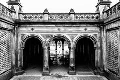 Arches in Central Park, New York Stock Images