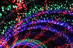Arches of Christmas lights Royalty Free Stock Photography