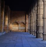 Arches of the Church of San Vicente in Avila Royalty Free Stock Photography