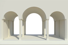Arches and columns Stock Photos