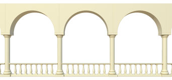 Arches and columns. Structure with arches and columns vector illustration
