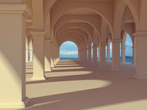 Arches and columns. Structure with arches and columns stock illustration