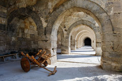Arches and columns in Sultanhani caravansary on Stock Images