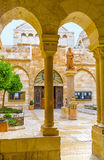 The arches of the courtyard Stock Photography