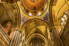 Arches Dome Crusader Church Holy Sepulcher Jerusalem Israel. Arches Dome Crusader Church of the Holy Sepulcher Jerusalem Israel. Church expanded in 1114 to 1170 royalty free stock images