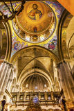 Arches Dome Crusader Church Holy Sepulchre Jerusalem Israel. Arches Dome Crusader Church of the Holy Sepulchre Jerusalem Israel. Church expanded in 1114 to 1170 stock image