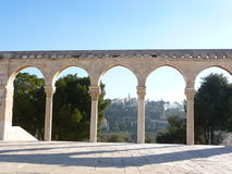 Arches in the Dome of the Rock Royalty Free Stock Photography