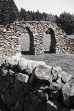 Arches and drystone wall in field Stock Photography