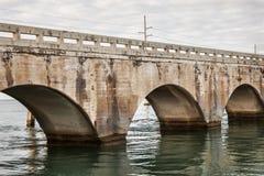 Arches of East Coast Railway in Florida Keys. Arches of Old East Coast Railway stone bridge connecting Florida Keys, United States stock photography