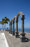 Arches El Malecon Puerto Vallarta Mexico Royalty Free Stock Photo