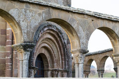 Arches and entrance to Eunate Stock Image