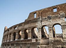 Arches in Exterior of Coliseum Stock Images